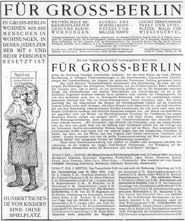 Gross Berlin planning for governing the metropolis the of greater